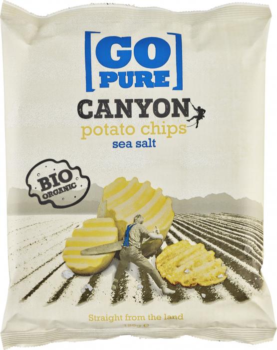 Chips-uri Canyon din cartofi bio cu sare de mare [0]