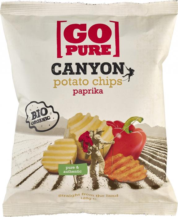 Chips-uri Canyon din cartofi cu ardei bio [0]