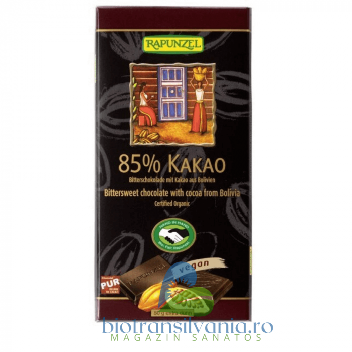 Ciocolata BIO Amaruie 85% Cacao, 80g Rapunzel 1