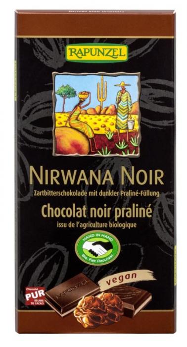 Ciocolata Bio Nirwana neagra cu praline 55% cacao [0]