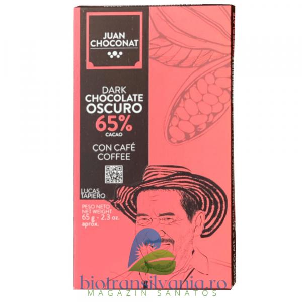 Ciocolata Neagra 65% cu Cafea, 65g Juan Choconat 0