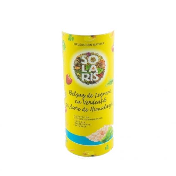 Condiment Belsug de Legume cu Verdeata si Sare Roz de Himalaya, 125g (tub) Solaris 0