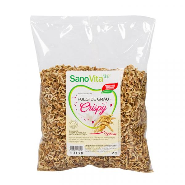 Crispy - Fulgi de grâu 250g Sanovita 0