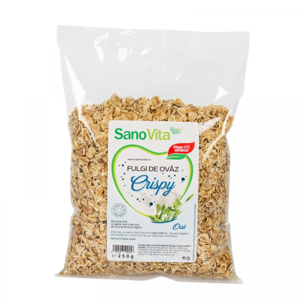 Crispy Fulgi de Ovaz, 250g SanoVita 0