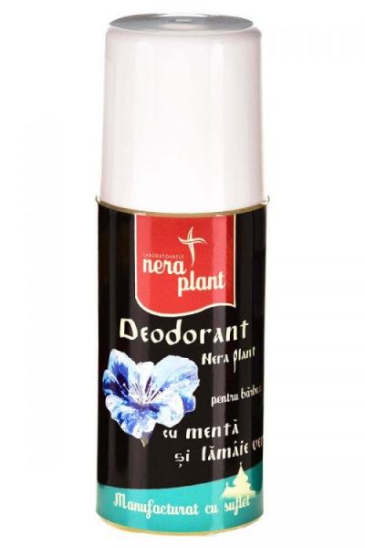 Deodorant Nera Plant cu menta si lamaie verde 0