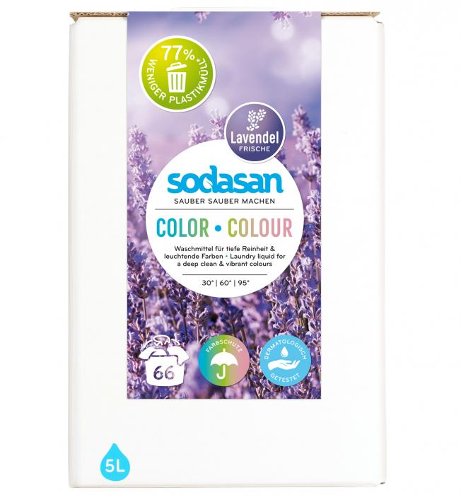 Detergent lichid pentru rufe colorate cu lavanda bag-in-box [0]
