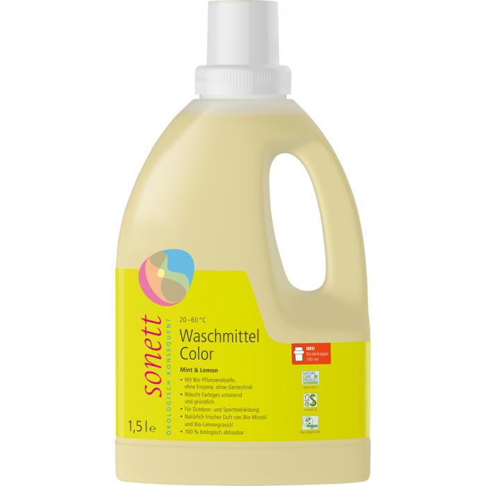 Detergent lichid pentru rufe colorate cu menta si lamaie [0]
