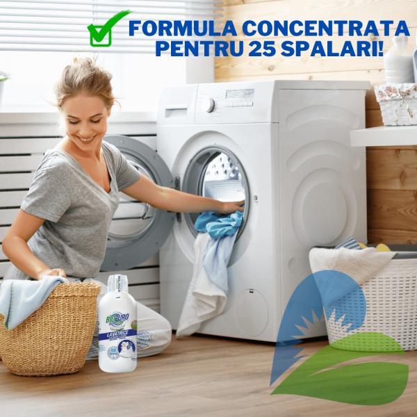 Detergent Lichid Rufe Albe Eco 1000ml BioPuro 1