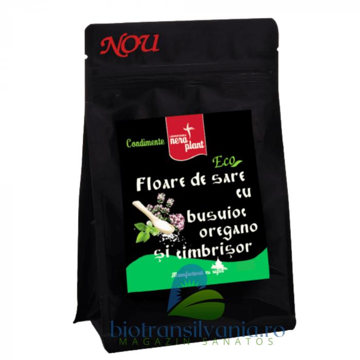 Floare de Sare BIO cu Busuioc, Oregano si Cimbrisor, 300g Nera Plant [0]