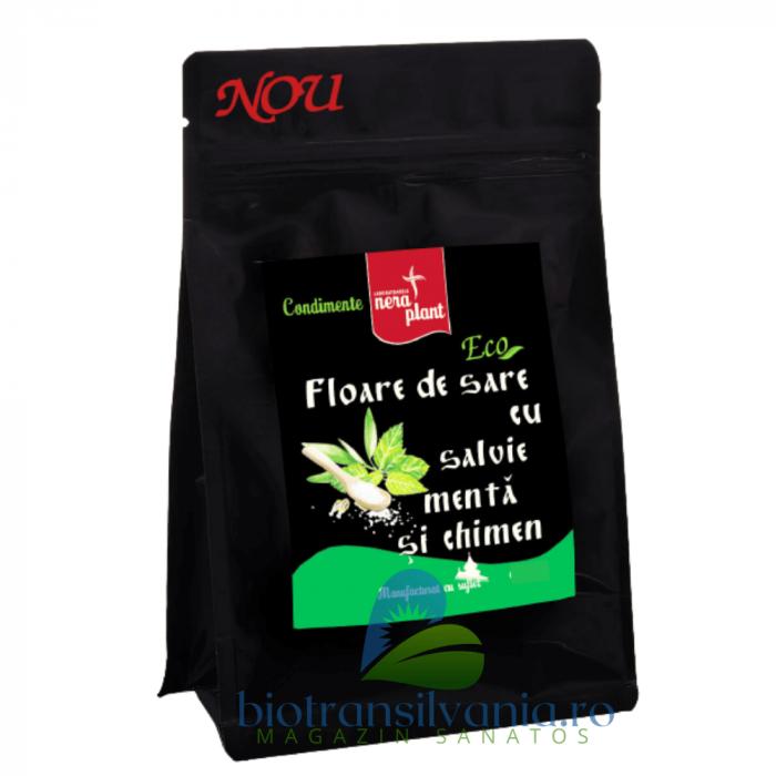 Floare de Sare BIO cu Salvie, Menta si Chimen, 75g Nera Plant 0