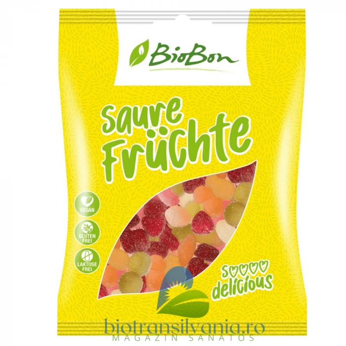 Jeleuri BIO Acrisoare de Fructe Fara Gluten, 100g BioBon [0]