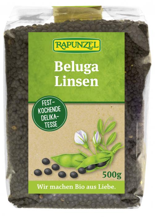 Linte Beluga bio neagră mică [0]