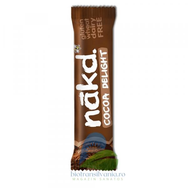 Baton raw-vegan cu cacao Fara Gluten 35g Nakd 0