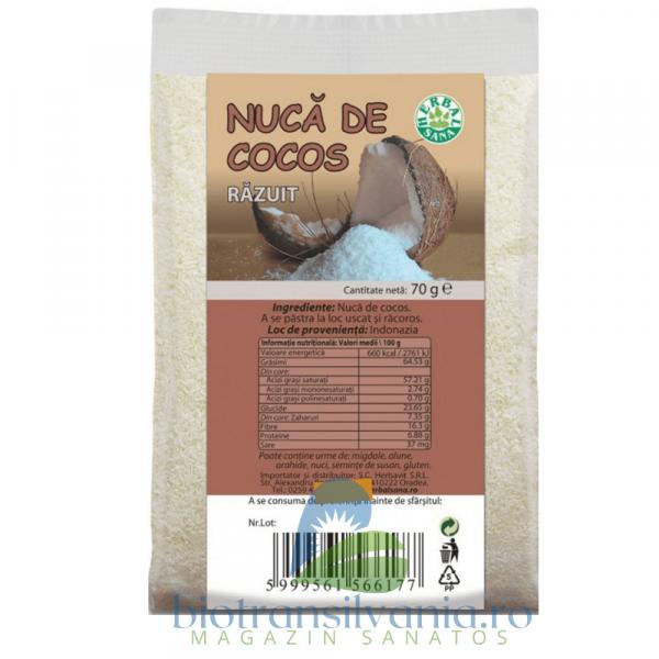 Nuca de Cocos Razuita 70g Herbalsana 0