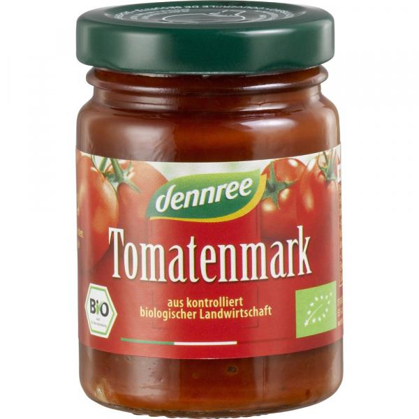 Pasta BIO de Tomate 22% Substanta Uscata, 100g Dennree 0
