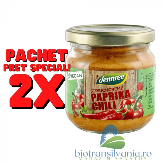 Pate BIO Vegetal cu Ardei si Chili, 180g Dennree [0]