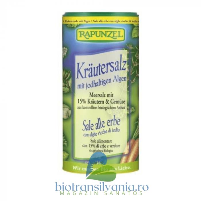 Sare BIO cu 15% Plante si Legume, 125g Rapunzel [0]