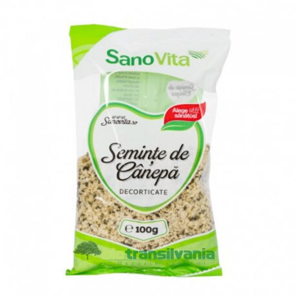 Semințe de cânepă 100gr Sanovita 0