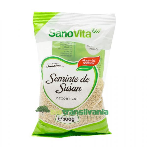 Semințe de susan decorticat 100g Sanovita 1
