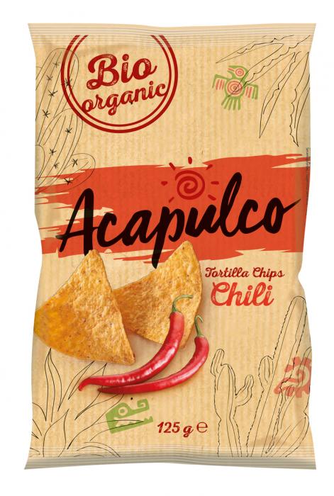 Tortilla bio chips cu chili [0]