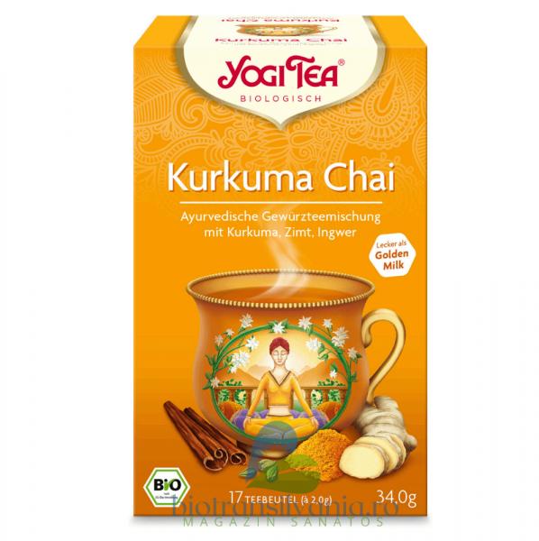 Ceai BIO Turmeric Chai 17 pliculete, 34g Yogi Tea 0
