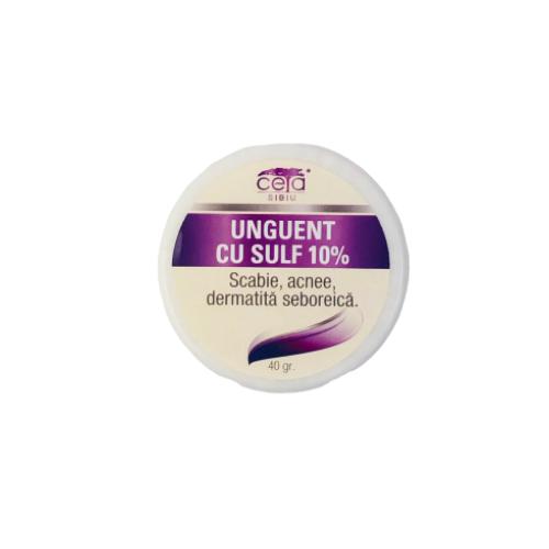 Unguent 10% Sulf  Ceta Sibiu  40 gr. 0