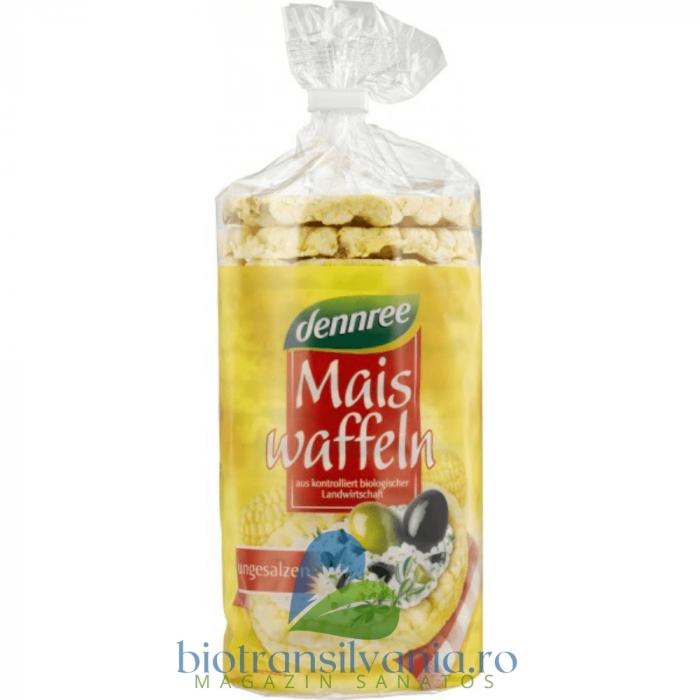 Vafe BIO din Porumb Expandat Fara Sare si Gluten, 120g Dennree [0]