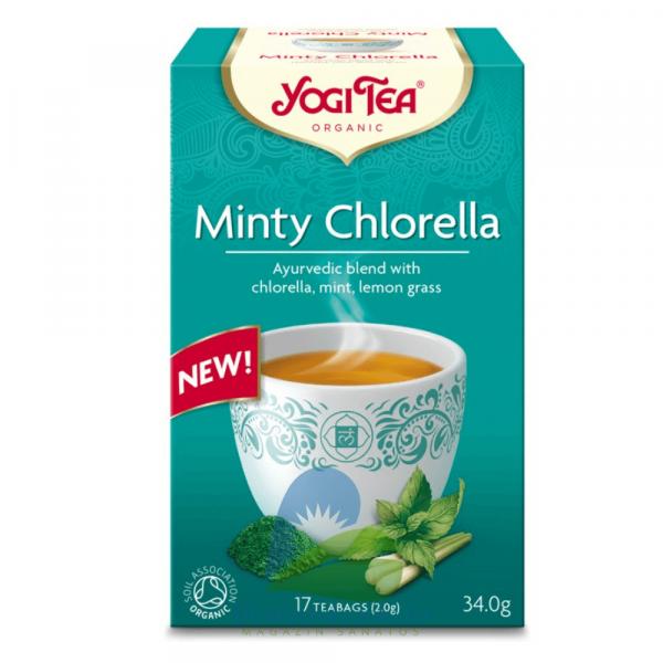 Ceai BIO Menta si Chlorella 17 pliculete, 34g Yogi Tea 0