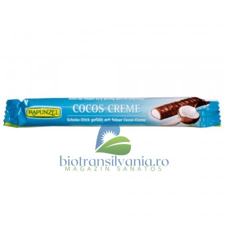 Baton BIO de Ciocolata cu Cocos 22g Rapunzel