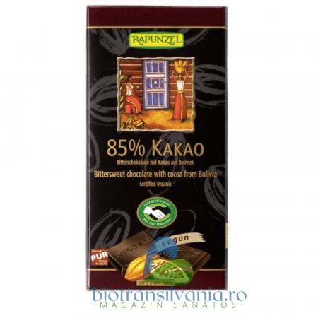 Ciocolata BIO Amaruie 85% Cacao, 80g Rapunzel0