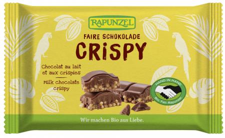 Ciocolata bio cu lapte integral crocantă HIH