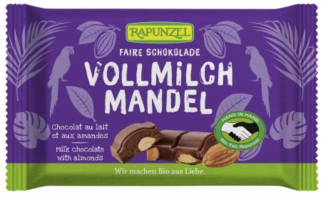 Ciocolata bio lapte integral Cristallino cu migdale întregi HIH