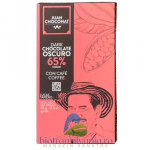 Ciocolata Neagra 65% cu Cafea, 65g Juan Choconat