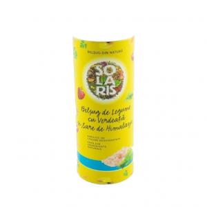Condiment Belsug de Legume cu Verdeata si Sare Roz de Himalaya, 125g (tub) Solaris