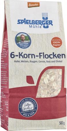 Fulgi din 6 cereale integrale  bio