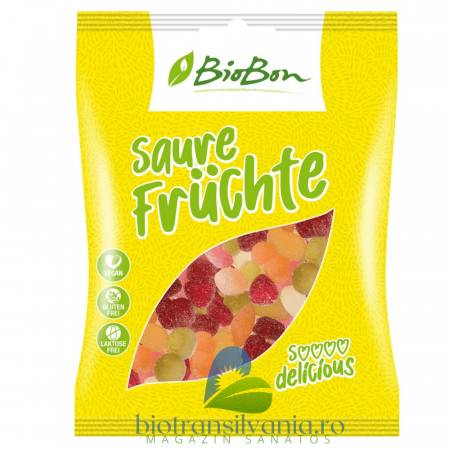 Jeleuri BIO Acrisoare de Fructe Fara Gluten, 100g BioBon