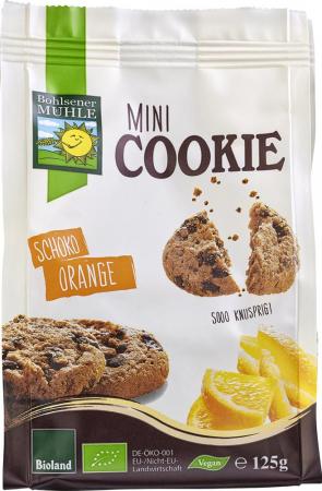 Minibiscuiti cu ciocolata si portocale bio