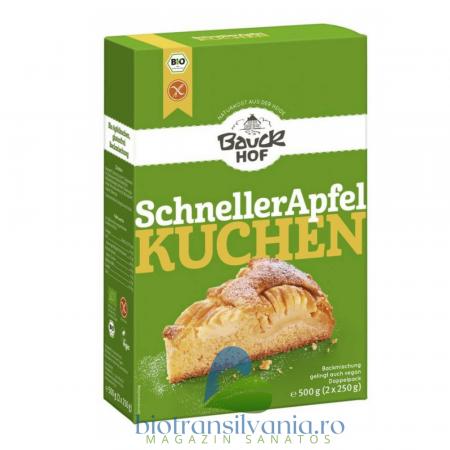 Mix BIO de Faina pentru Placinta Rapida cu Mere Fara Gluten, 500g Bauck Hof