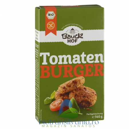 Mix BIO pentru Burger cu Tomate si Busuioc Fara Gluten, 140g Bauck Hof