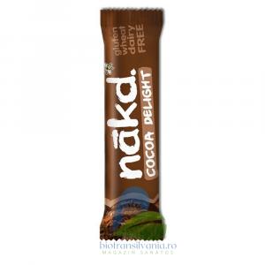 Baton raw-vegan cu cacao Fara Gluten 35g Nakd0