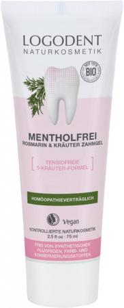 Pasta de dinti gel fara mentol cu rosmarin si plante