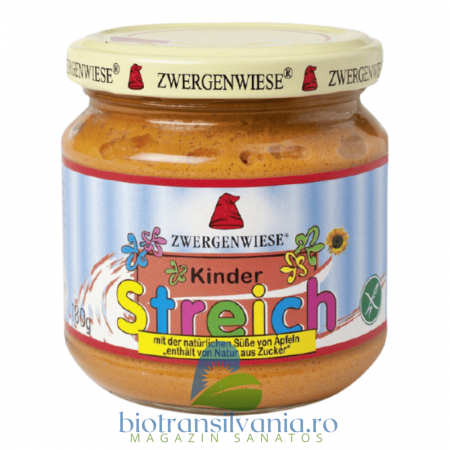 Pate Vegetal BIO pentru Copii Indulcit cu Suc de Mere, 180g Zwergenwiese