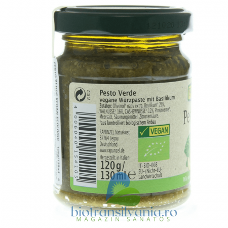 Pesto BIO Verde Vegan, 120g Rapunzel [1]