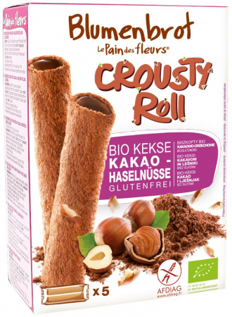 Rulouri crocante cu crema de cacao FARA GLUTEN