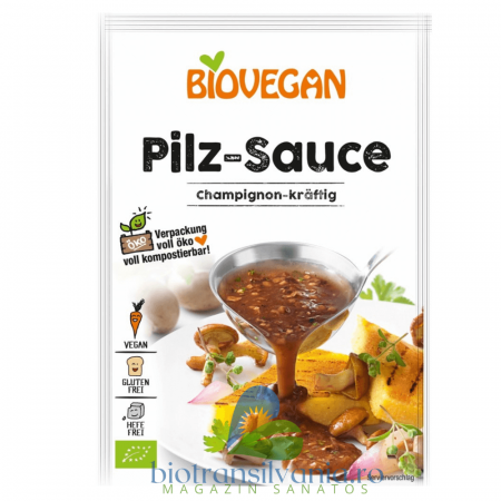 Sos BIO de Ciuperci Fara Gluten, 27g Biovegan