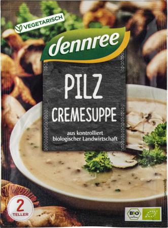 Supa crema de ciuperci, la plic