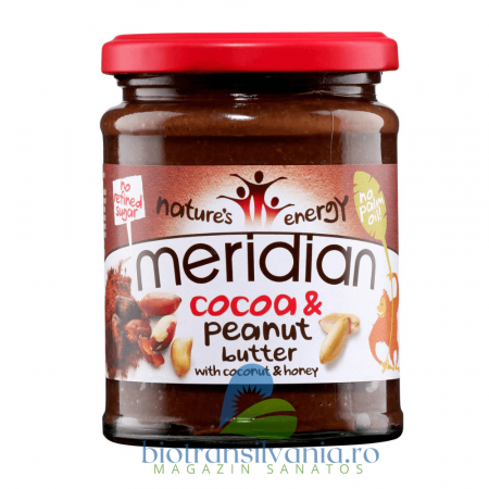 Unt de arahide si cacao 280g, Meridian