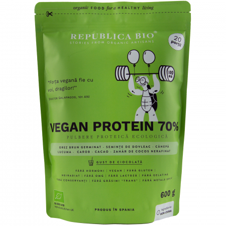 Vegan protein 70%, pulbere functionala ecologica