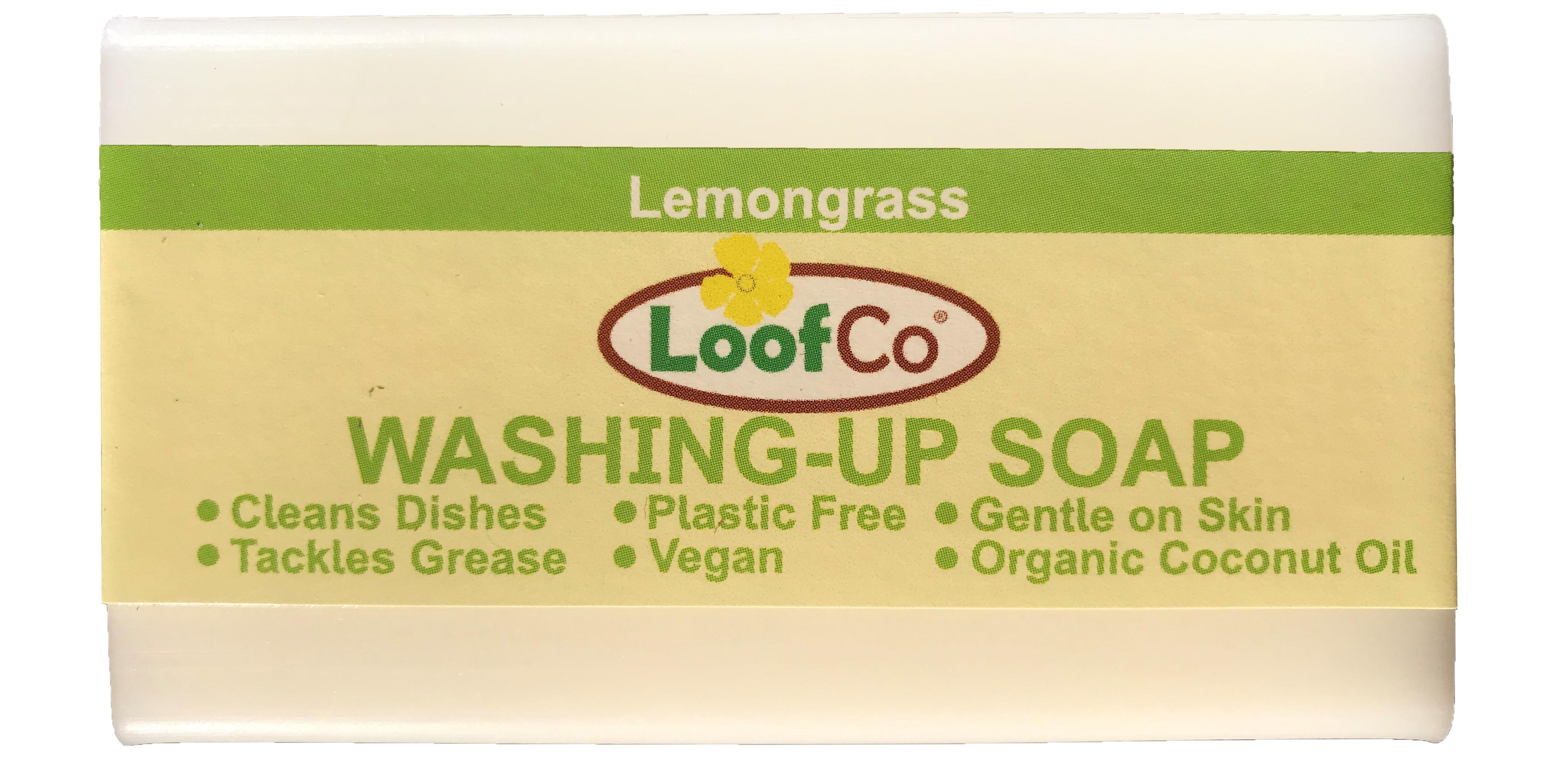 Sapun solid pentru vase, cu lemongrass, LoofCo,100 g 0