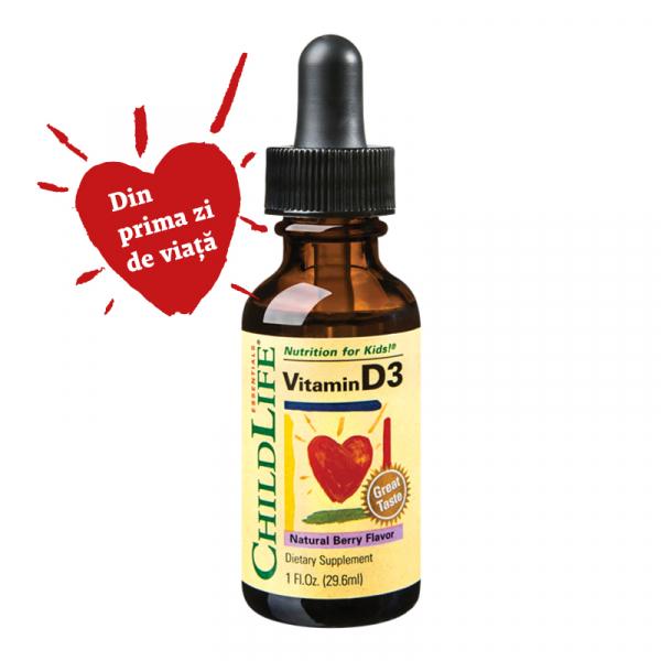 Supliment alimentar Vitamina D3 500UI (copii) 30ml Childlife Essentials® SECOM 0